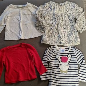 Mixed lot baby girl tops size 18m